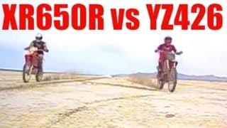 8. HONDA XR650R vs YAMAHA YZ426F. RACE!!