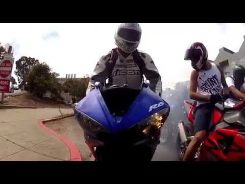 STUNTS - Crazy motorcycle stunts while ripping up the freeway and in town streets, from the suburbs to the hood, from wheelies to stoppies /endos/, the only option fr...
