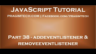 addeventlistener and removeeventlistener in JavaScript