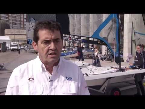Trabajo mediático y deportivo en la previa del Mundial, en Santander