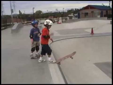 Nic & Tristan's 1st Skate Video - 6 Years Old