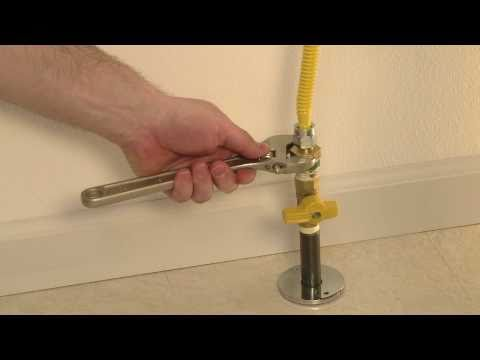 How to Install a BrassCraft Gas Appliance Connector with an Excess Flow Valve