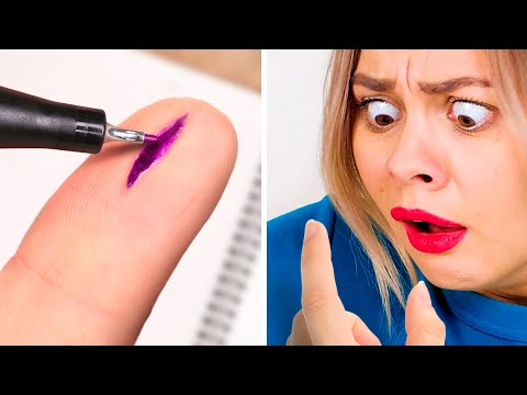 7 FUNNY DIY SCHOOL PRANKS || Easy Pranks For Back To School!