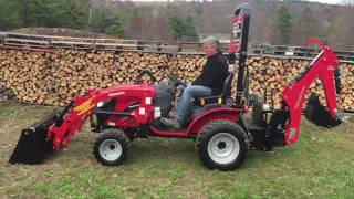 2. Mahindra eMAX 22s HST Tractor w/ Loader & Backhoe Walkthru - Sub Compact Beast