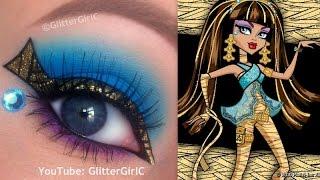 Monster High's Cleo de Nile Makeup Tutorial - YouTube