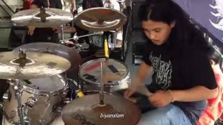 DAGING deathmetal drumcam live at Lamongan DeathFest 2015