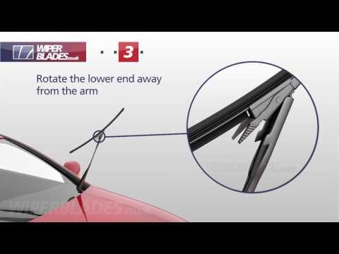 How to Fit WBTR-1 Aerowiper Pinch Tab Flat Wiper Blades