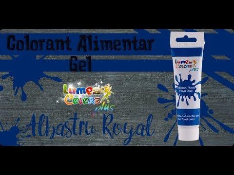 Colorant alimentar gel Lumea Colors Plus Albastru Royal