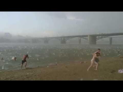 A sudden hailstorm in Novosibirsk Russia last