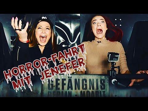 Horror-Fahrt mit Jenefer!!! Wer hat mehr Angst im Berlin Dungeon (видео)