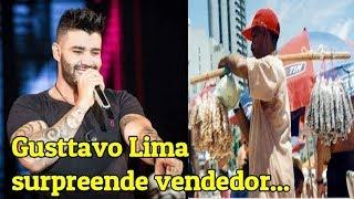 Notícias dos famosos - Sertanejo Gusttavo Lima surpreende vendedor de amedoim durante seu show!