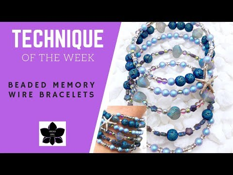 Memory Wire Bracelets | Technique of the Week | Beaded Jewelry Making Tutorial