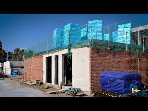 Instal·lació de l'estructura del nou edifici social del CNV gener-febrer 2019
