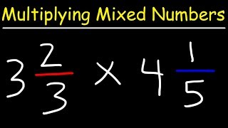 This pre-algebra video tutorial explains how to multiply mixed numbers by first converting it into improper fractions and then multiplying the two fractions in addition to simplifying it.  This tutorial contains a ton of examples and practice problems.Pre-Algebra Video Playlist:https://www.youtube.com/watch?v=WJqw-cxvKgo&list=PL0o_zxa4K1BVoTlaXWFcFZ7fU3RvmFMMGAlgebra Online Course:https://www.udemy.com/algebracourse7245/learn/v4/overviewAccess to Premium Videos:https://www.patreon.com/MathScienceTutor