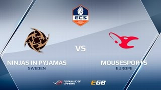 NiP vs mousesports, map 1 train, ECS Season 2 Europe