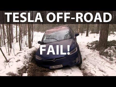 Miten toimii Tesla Model X katumaasturi metsässä?