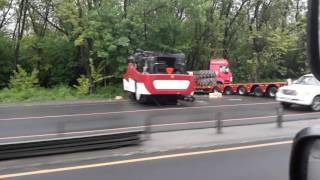 Комбайн упал с трала,Ростов на дону 15.05.2017