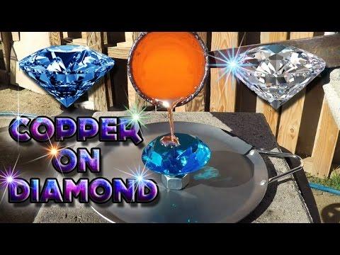 Đổ đồng nóng chảy lên viên kim cương thì sẽ như thế nào nhỉ? :3