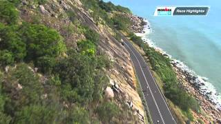 Don't miss this awesome clip of the 2012 Cairns Airport Ironman Cairns Cycle leg highlights. The cycle course takes in the spectacular Captain Cook Highway from Cairns towards Port Douglas. Arguably one of the most scenic cycle courses in the world.