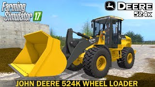 The JOHN DEERE 524K wheel loader has a bucket with a capacity of 5000 L. The 12 tonne weight machine is equipped with a powerful John Deere diesel engine, which makes the truck highly productive.The loader is designed for moving and loading large volumes of bulk cargo.V2.0I added black smoke and a strobe light to this loader.Developer website FS 17 - http://www.farming-simulator.comWebsite mods - https://www.modsgaming.usFS 17 fan group facebook - https://www.facebook.com/groups/FarmingSimulatorMods/FS 17 fan group VK - https://vk.com/farming_simulator_2013_gamePlaylist FS 17 - https://www.youtube.com/playlist?list=PL54hHM4RuNpdwE1PKqLxgb5r59byxQTolLink Mod JOHN DEERE 524K - https://www.modsgaming.us/load/farming_simulator_2017/fs_17_forklifts_excavators/john_deere_524k_v2/16-1-0-1253Link Mod PETERBILT 388 - https://www.modsgaming.us/load/farming_simulator_2017/fs_17_trucks/peterbilt_388_v1_0/14-1-0-1202Link Mod MECH CORPORATION GALERA 55L - https://www.modsgaming.us/load/farming_simulator_2017/fs_17_trailers/mech_corporation_galera_55l/18-1-0-1296Link Map BALDEYKINO MAP V3.0 - https://www.modsgaming.us/load/farming_simulator_2017/fs_17_maps/baldeykino_map_v3_0_0_0_sc/28-1-0-237