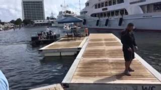 Walkway opening at the Ft Lauderdale Boat Show