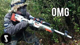 Video Guy Brings Airsoft AWP Asiimov and QUICKSCOPES PLAYERS!! MP3, 3GP, MP4, WEBM, AVI, FLV Maret 2018