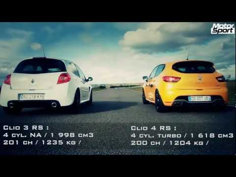 drag race - renault clio 4 rs vs clio 3 rs cup