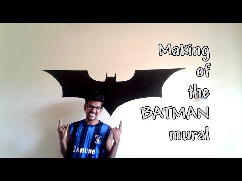 Batman Logo Mural | The Making