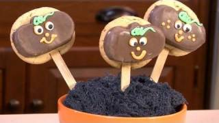 Pumpkin Lollipop Cookies
