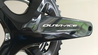 Quick squiz at the new shimano 9100 dura ace power meter from stages.