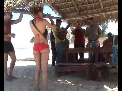 Girls have fun in Cuba