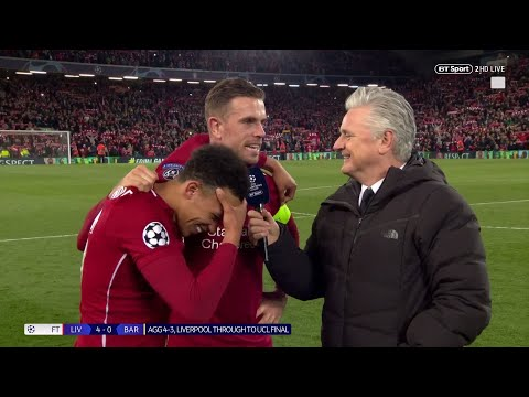 """Everyone was unreal!"" Jordan Henderson and Trent Alexander-Arnold react to Liverpool 4-0 Barca - Thời lượng: 1:49."