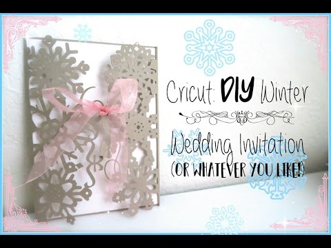DIY: How To Make A Wedding Invitation Using The Cricut