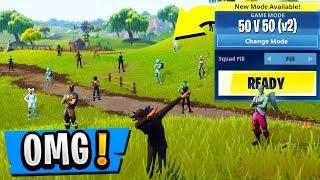 *NEW* 50 vs 50 V2 Gamemode! | BIGGEST FORTS Ever! ( Fortnite Update Gameplay )