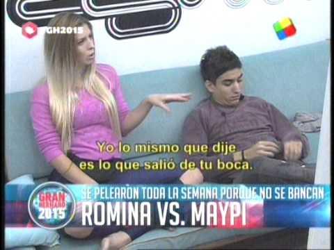 Romina Vs Maipi la guerra sin fin GH 2015 #GH2015 #GranHermano