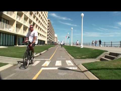 Virginia Beach - VaBeach.com presents a virtual ride on the bike trail that runs parallel to the boardalk. Play this video while you are riding your stationary bicycle and pr...