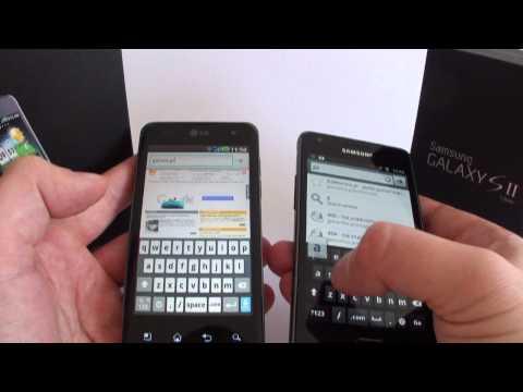 LG Optimus 2X P990 dualcore versus Samsung Galaxy S II dualcore