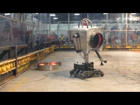 120Pound Rick and Morty Butter Robot With a Flamethrower Wages War at RoboGames