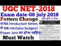 Ugc Net-Exam Date-8 july 2018,Pattern Change etc by Dr. Ajay choudhary