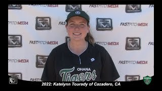 2022 Katelynn Tourady Power Hitting Pitcher and First Base Softball Skills Video