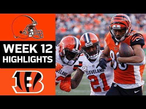 Video: Browns vs. Bengals | NFL Week 12 Game Highlights