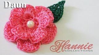 Crochet || Tutorial Daun Rajut - Leaf Crochet