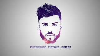 Photoshop Tutorial - Galaxy Logo Design From Face