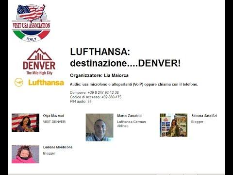 Video LUFTHANSA: DESTINAZIONE...DENVER! (19/5/2016)