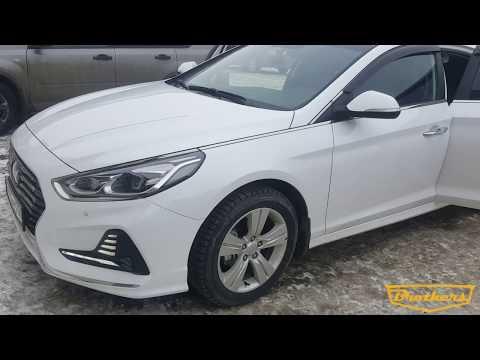 """Чехлы на Hyundai Sonata 7, серии """"Premium"""" - серая строчка"""