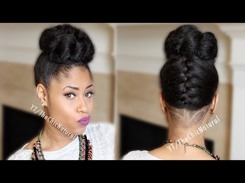french braid - Back with a styling tutorial on my natural hair- the french braided twisted bun! Hope you like! **Giveaway Closed** One subscriber will win a pair of shoes o...