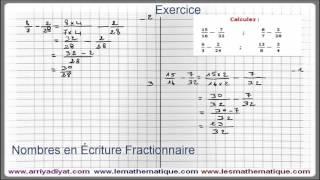Maths 5ème - Les nombres en écriture Fractionnaire Exercice 6