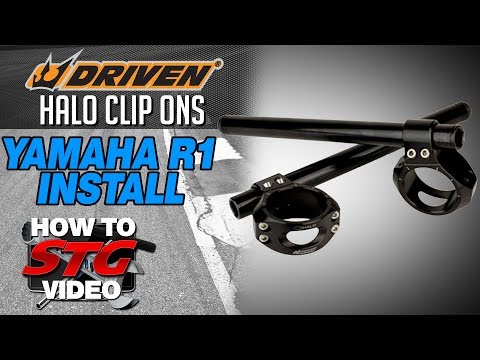 How to install Driven Halo Clip-Ons on a 15-17 Yamaha YZF-R1 from SportbikeTrackGear.com