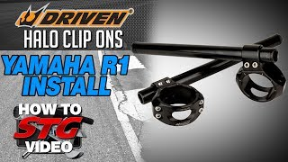 5. How to install Driven Halo Clip-Ons on a 15-17 Yamaha YZF-R1 from SportbikeTrackGear.com