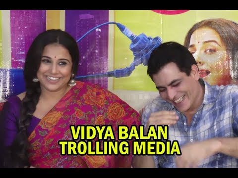 Vidya Balan & Manav Kaul TroIling Media Reporter At Tumhari Sulu Movie Press Conference | 2017 Movie Review & Ratings  out Of 5.0